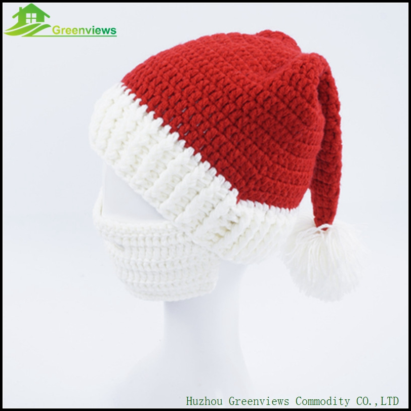 846d6a9bae8 3pcs pack Big Beard Hat Christmas Party Kint Hat Christmas Hat Free Crochet  Pattern Mustache Mouth muffle Handmade Knit-in Christmas from Home   Garden  on ...