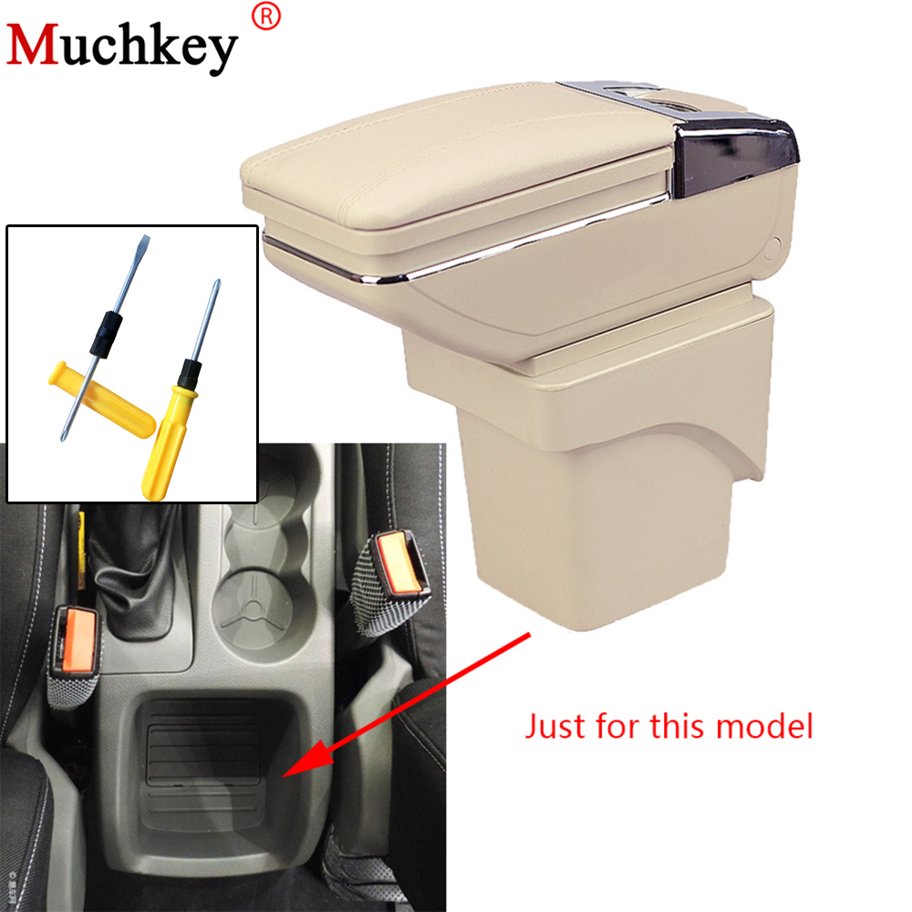 Armrest box For Ford Focus 2 2009 2010 2011 Central Console Arm Rest Store Content box With Cup holder ashtray Car Accessories car armrest for kia k2 rio 2011 2016 central store content storage box with cup holder ashtray accessories car styling abs