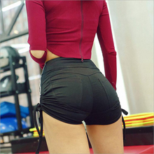 2018 Hot selling women sports shorts for women Gym Running Shorts Ladies Sport Athletic tights Spandex Black Yoga Shorts