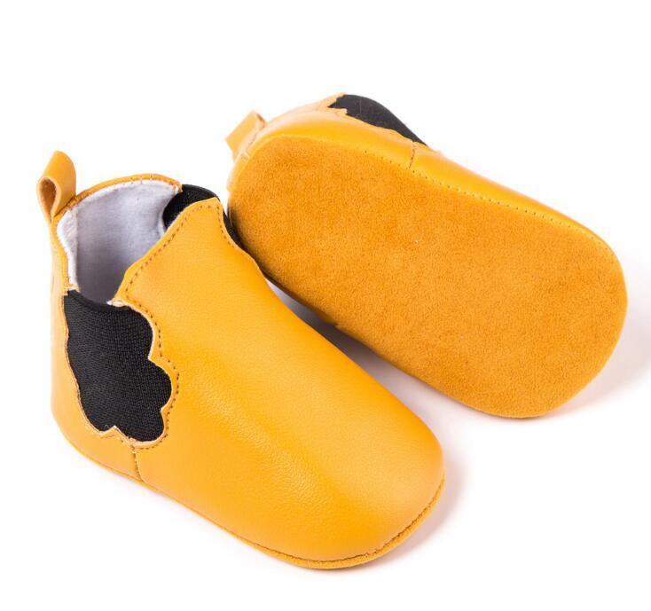 New soft soled Newborn baby boot pu leather first walker baby moccasins shoes nonslip for 0-18M toddler boys and girls