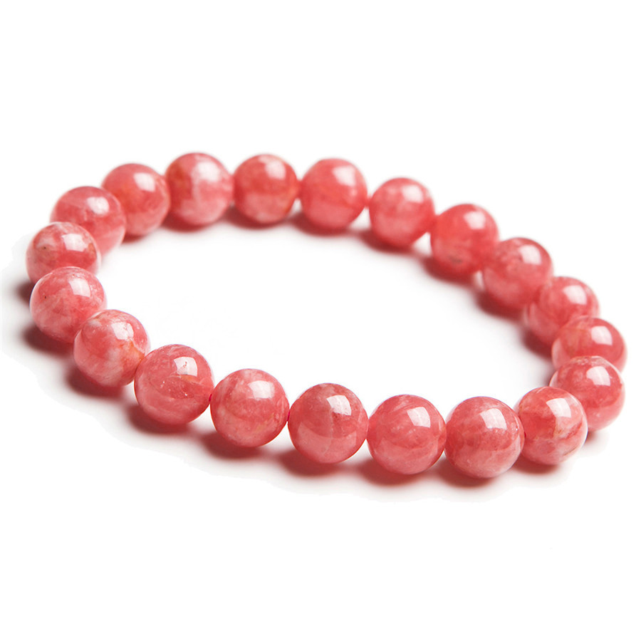 Natural Ice Rhodochrosite Stone Charm Love Stretch Bracelet Femme Free Shipping Just One 2018 New Womens Stretch Bracelet 9.5mmNatural Ice Rhodochrosite Stone Charm Love Stretch Bracelet Femme Free Shipping Just One 2018 New Womens Stretch Bracelet 9.5mm