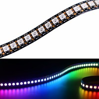 LED Быстрая доставка оптовая продажа 1 м 5050 RGB 144 светодиодов WS2812B Чип WS2811 цифровой rgb Светодиодные ленты света 144 Pixel DC5V