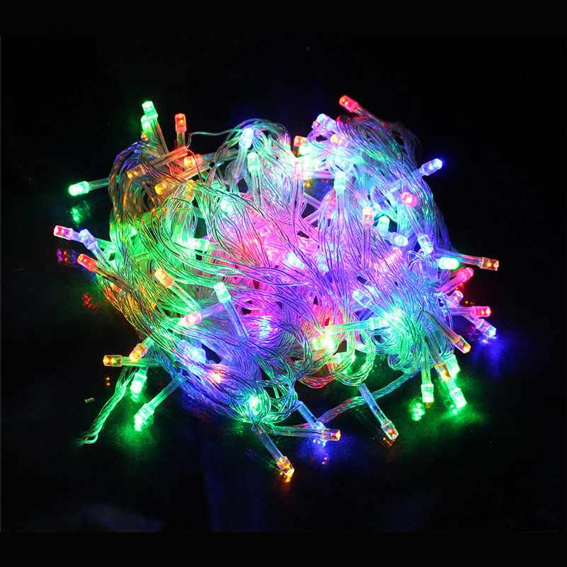 EU Or US Plug LED String Light 10M 100Leds  With 8 Modes Fairy Twinkle Decorative Light For Party,Wedding,Chirstmas Tree,Patio