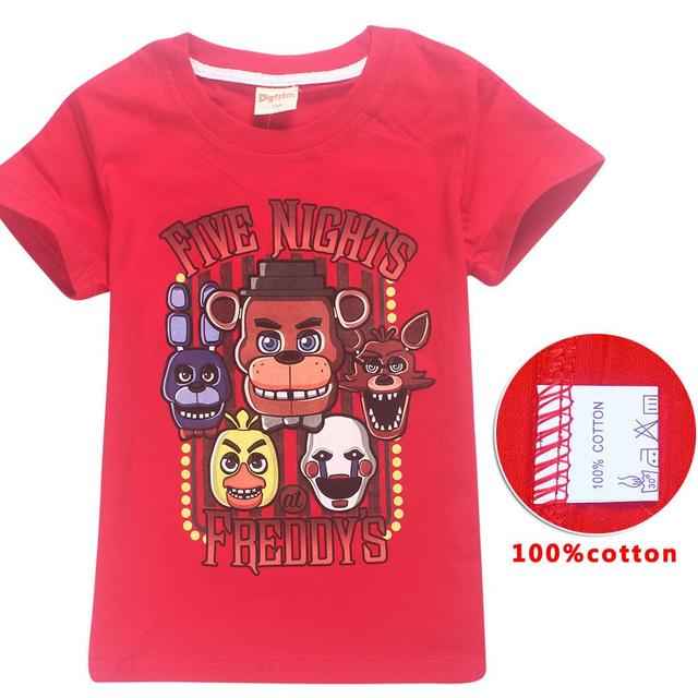 7d9b01964c8af Baby boy clothes cartoon children t shirts game five nights at freddy's  clothing camiseta kids girls boys t-shirt 5 freddys tops