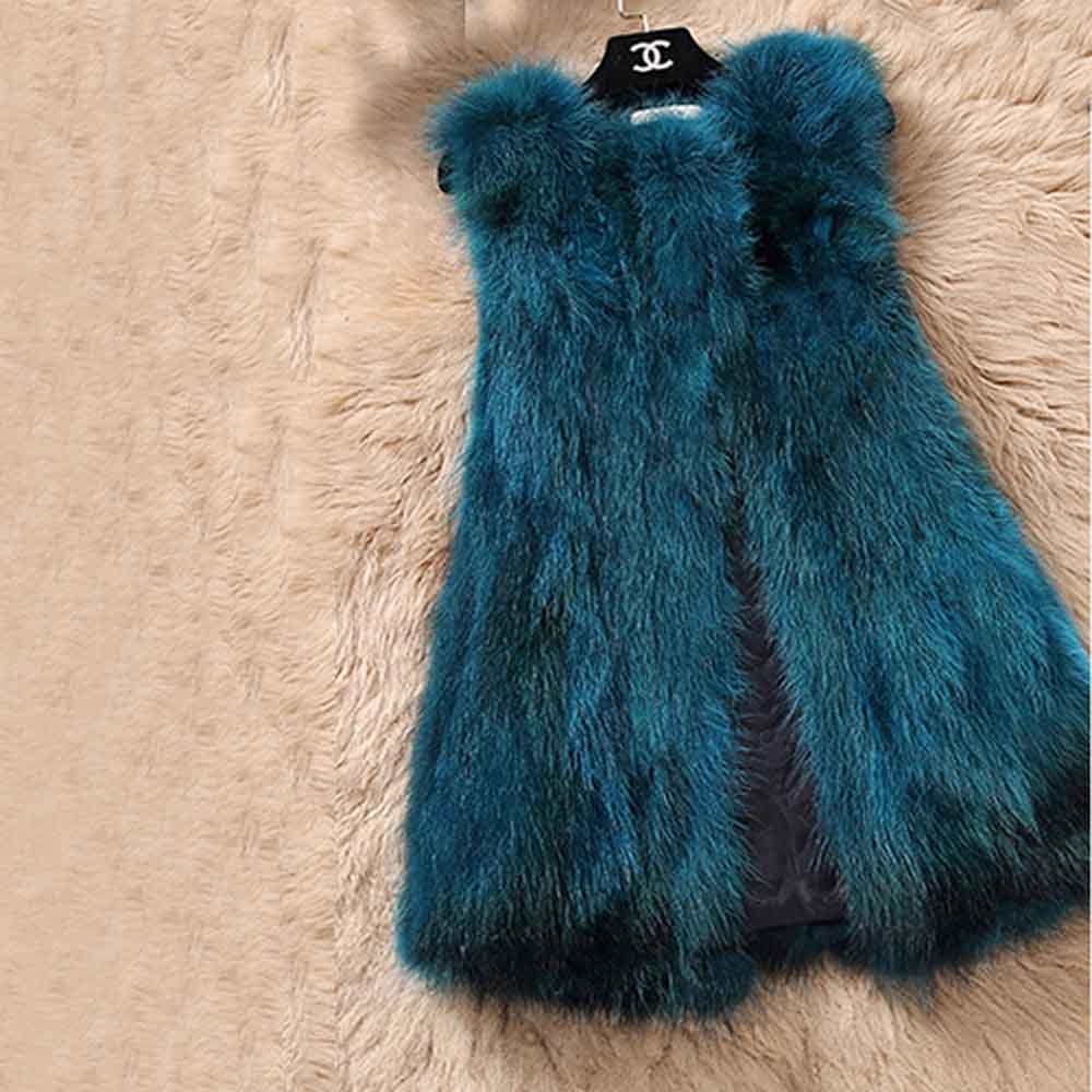Из натурального меха серебристой лисы, жилет природа Для женщин лисий мех жилет фабрика изготовленный на заказ большие размеры, куртка из искусственного меха, TFP872 - Цвет: Kblue