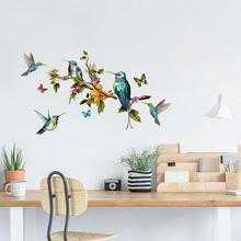 Dream home Y1617 color butterfly branch bird wall stick living room TV background wall personality decoration wall sticker hot sell gsm gprs quad band m2m cinterion mc55i module gsm gprs modem