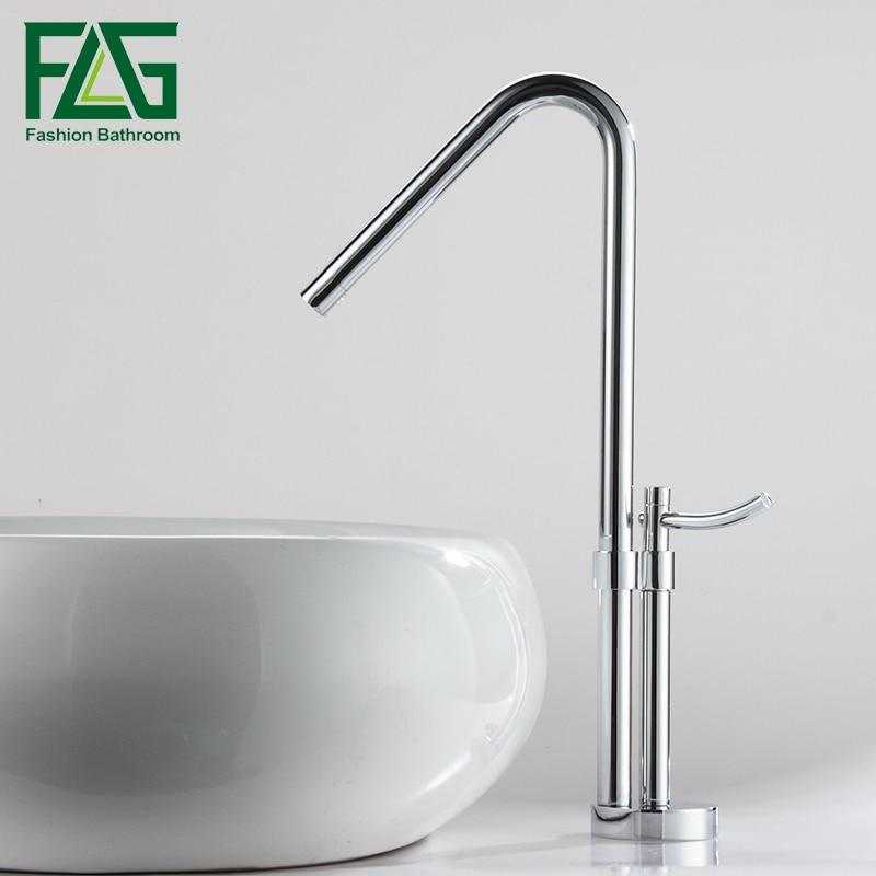 Free Shipping Modern Bathroom Faucet Brass Chrome Polish Single Handle Water Bath Basin Mixer Faucet torneira