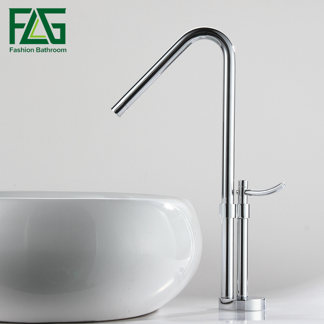 Free Shipping Modern Bathroom Faucet, Brass Chrome Polish Single Handle  Water Bath Basin Mixer Faucet
