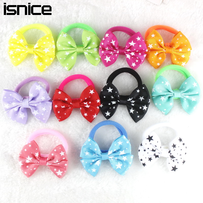 5pair 10pcs 2 Inch Ribbon Hairbow S Hair Top Clip For Dot Print Bow Hairpin Baby Children Accessories Gum Us27