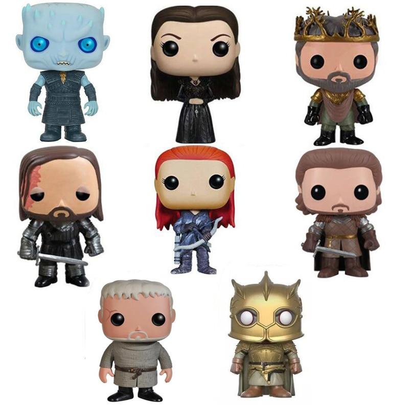Game Of Thrones Characters Vinyl Figure Collection Model Toys With Retail Box Jon Snow Night's King Daenerys Targaryen