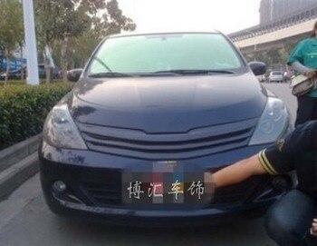 Car Front carbon fiber bumper Grill grille for NISSAN TIIDA 05-10