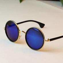 Free shipping 2016 New Fashion glasses Women men Fashion retro  roundness colours Sunglasses summer 7 colors glasses