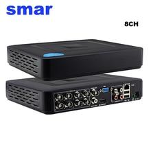 Mini 8 Canaux CCTV DVR Full D1 960 H 12FPS H.264 8CH HDMI 1080 P de Sécurité NVR Hybride DVR Enregistreur XMEYE Nuage P2P RS485 PTZ Chaude