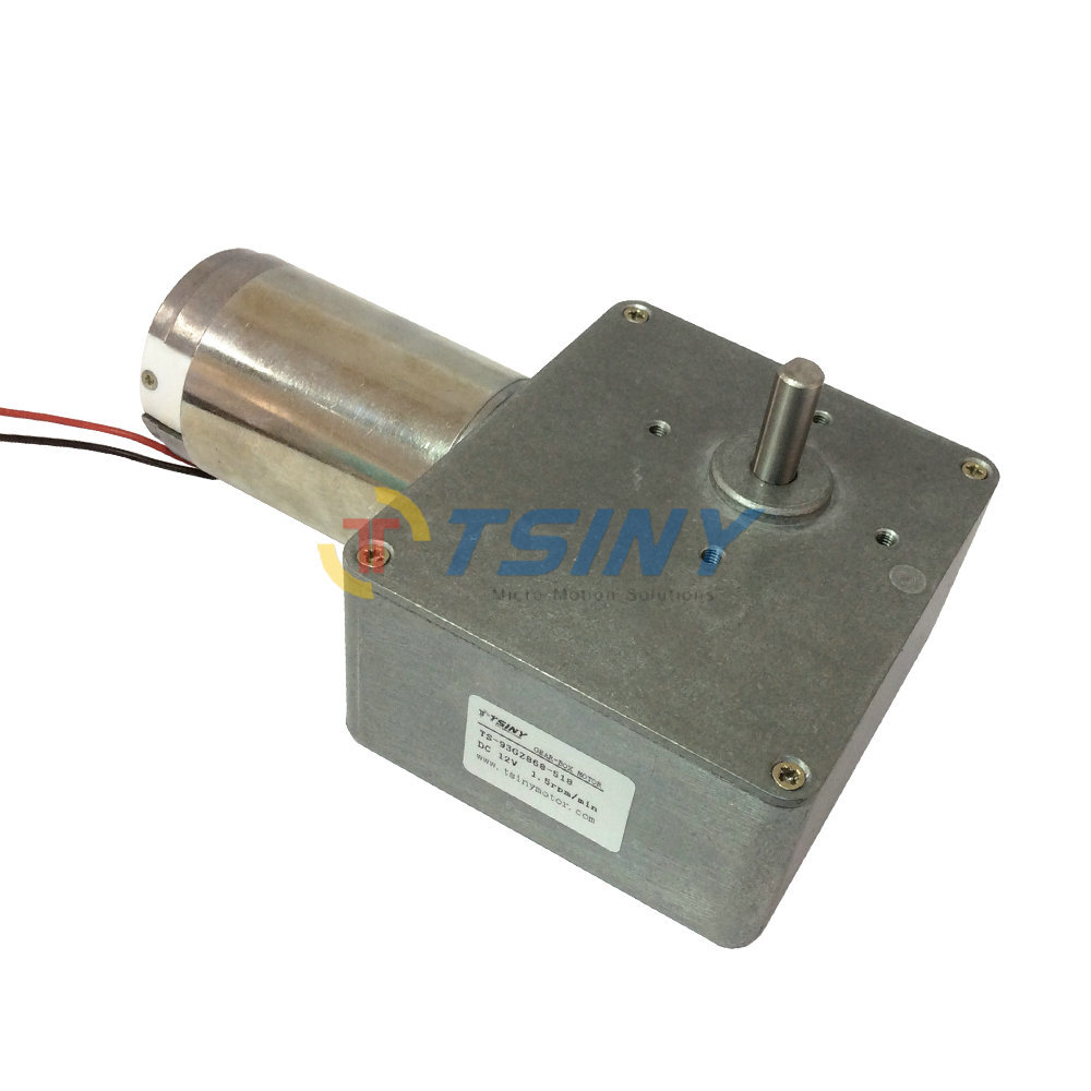 High-torque electric worm gear motor,DC 12V/1.5rpm speed reducer,90 degree right angle motor Free shipping