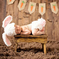 Bunny crochet knitting set hat and diaper baby photography props handmade outfits newborn baby costume 2016