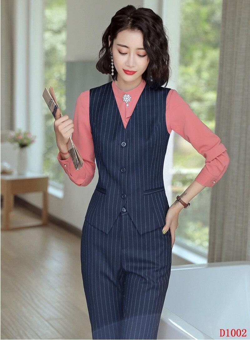 E Stili Top Set Disegni Vestiti Signore Affari Donne Convenzionali Uniformi Gilet Ufficio Con Delle Pantaloni Dei Di amp; cq8fWcw4T