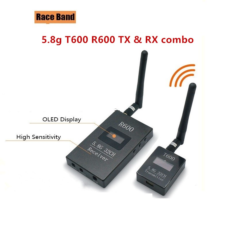 Skyzone Raceband T600 5.8G 5.8ghz 600mW Transmitter R600 OLED Display 5.8g 32ch Receiver for FPV DIY Racing drone long range free shipping fpv skyzone 5 8g 32ch 2000mw 2w av transmitter n2000 with digital display osd for receiver qav250 racing drone