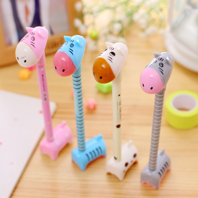 Animal BallPoint Pen Cute Stand Donkey Office School Supply For Students Kids