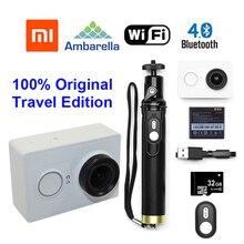 Versión internacional!! Original 32 GB + Original Xiaoyi YI Acción cam 60FPS WIFI Bluetooth 4.0 Edición Viajes 16MP + Control Remoto