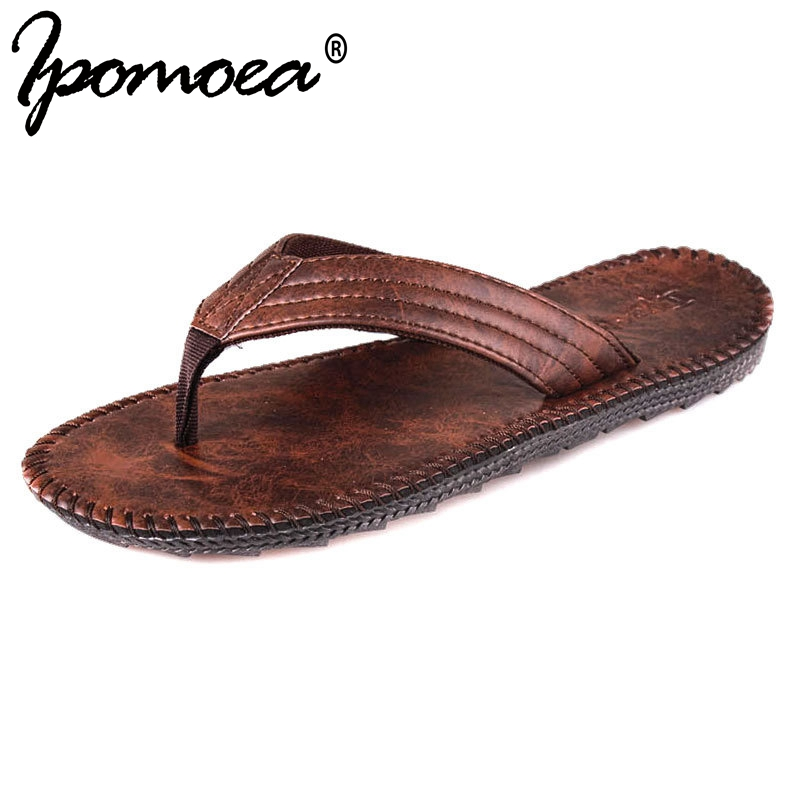 2018 Summer New Arrival Summer Cool Men Flip Flops British Style Boardered Beach Sandals Non-slide Male Slippers Zapatos Hombre