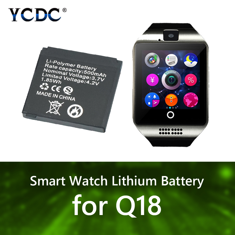 Buy Li-ion Polymer Battery For Q18 Smart Watch 500mAh 3.7V Rechargeable Lithium Batteries 1 /2/ 3/ 4/ 5/ 6/ 8pcs Spare Battery for $4.37 in AliExpress store