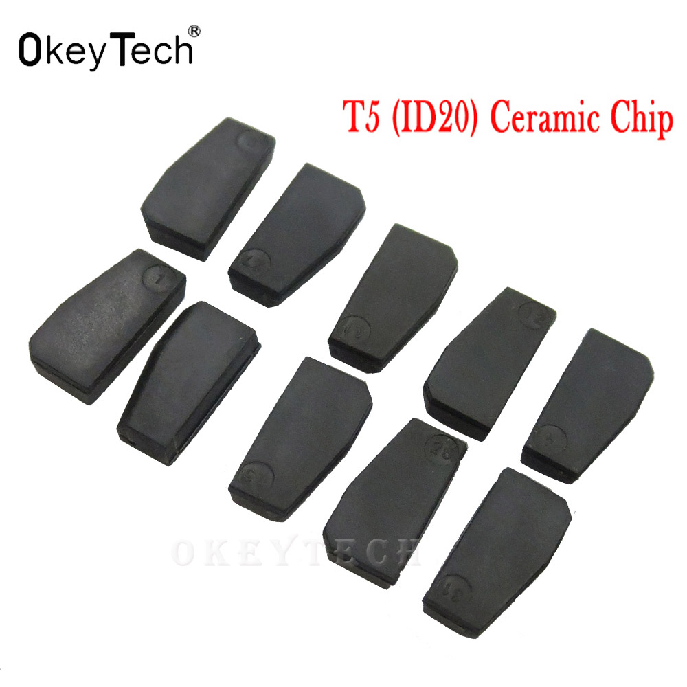 OkeyTech 5pc 10pc auto key ID20 ceramic Transponder ID T5 20 Chip Blank Carbon T5 Cloneable Chip for Car Key Cemamic Copy carbon adjustable hydraulic buffer pneumatic hydraulic shock absorber ad2030