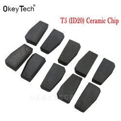 OkeyTech 5pc 10pc auto key ID20 ceramic Transponder ID T5 20 Chip Blank Carbon T5 Cloneable Chip for Car Key Cemamic Copy carbon
