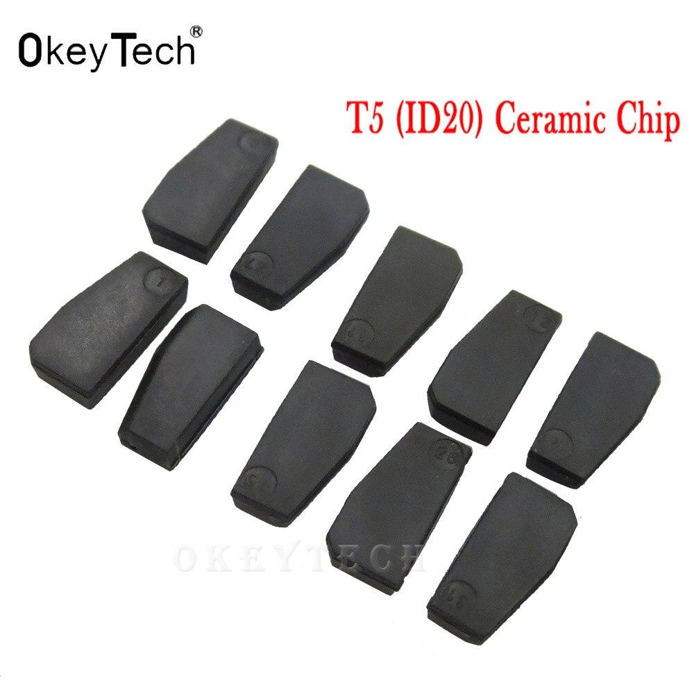 Okeytech 5 шт. 10 шт. авто ключ ID20 Керамическая транспондера ID T5 20 пустой чип углерода T5 клонируемым чип для ключи cemamic копия