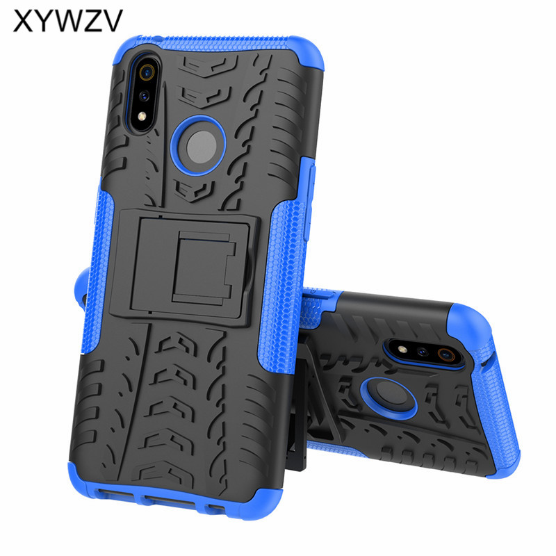 Image 3 - OPPO Realme 3 Pro Case Shockproof Cover Armor Soft PU Silicone Hard PC Phone Case For OPPO Realme 3 Pro Back Cover Realme X Lite-in Fitted Cases from Cellphones & Telecommunications
