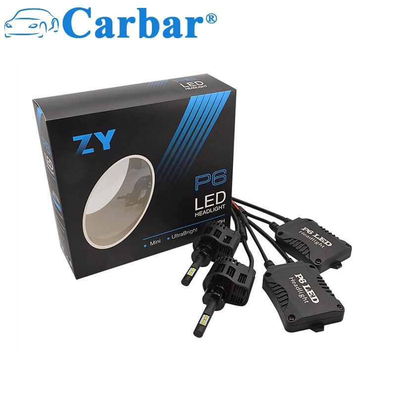 Carbar # P6 H3 ampoules de phares LED 9000LM 90 W/set 6000 K blanc Super lumineux antibrouillard ampoule tout-en-un phare LED H3 Canbus LED