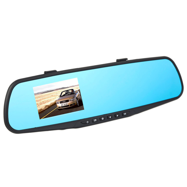 1 pc De Voiture DVR Caméra Vidéo Enregistreur 2.8 pouces 720 p Rétroviseur Dash Cam 120 Degrés Angle Véhicule Double objectif Vue Arrière De Voiture Noir 4