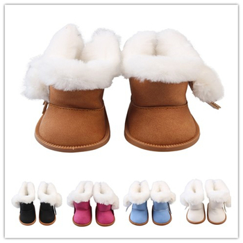 Mini Doll Shoe Winter Snow Boots Fit 18 Inch American and 43cm Baby Dolls Gift for Girl Accessories
