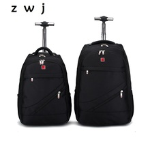 18 20 inch  men carry on cabin hand backpack luggage trolley travel bag