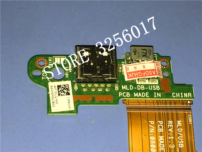 Купить с кэшбэком wholesale Original NEW for Dell for VENUE 11 PRO T06G t11g 5130 Tablet Charge Port PCB Board MLD-DB-USB 100% Work Perfectly