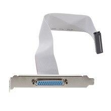 AB03 Порты и разъёмы серийной параллельной слот Pci заголовок кабельный кронштейн 25 Pin женский Db25 контактный кронштейн со шнуром