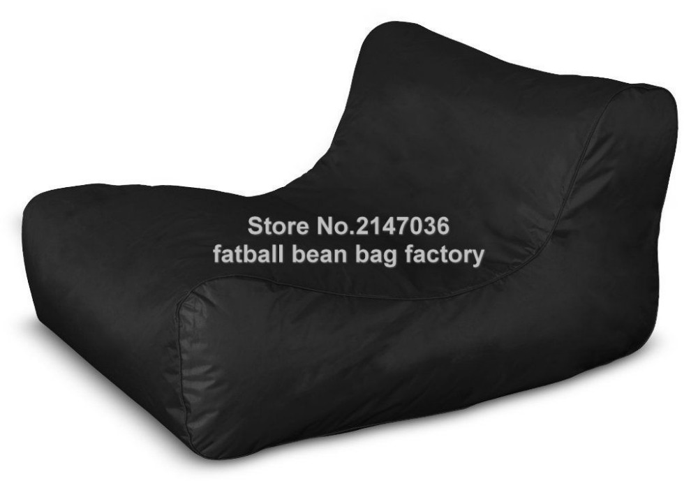 Black DESIGNER OUTDOOR BEAN BAG STYLISH COMFORTABLE & WATERPROOF, Water External Outdoor Furniture Sofa Seat