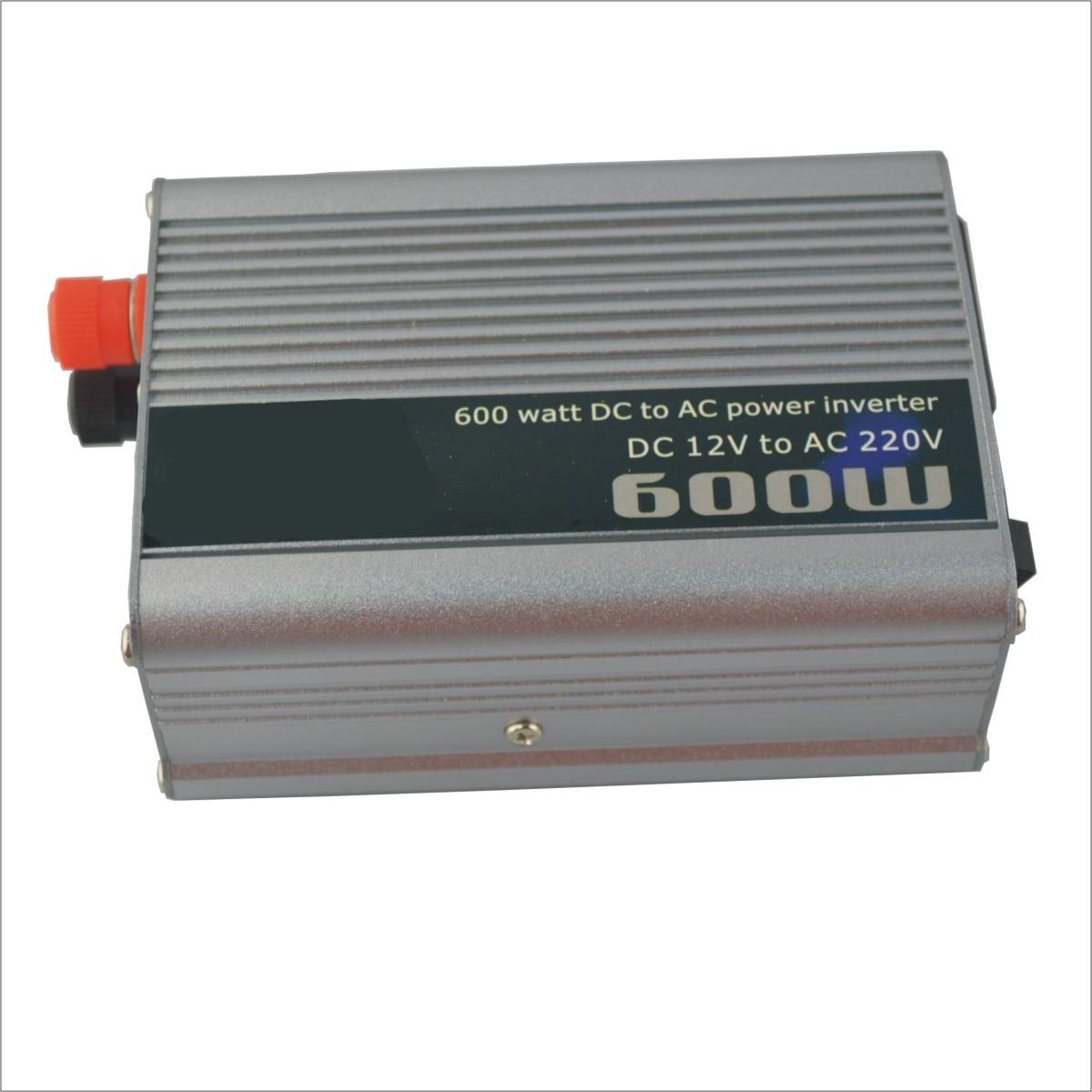 High Quality 600W Car DC 12V to AC 220V Power Inverter Silver