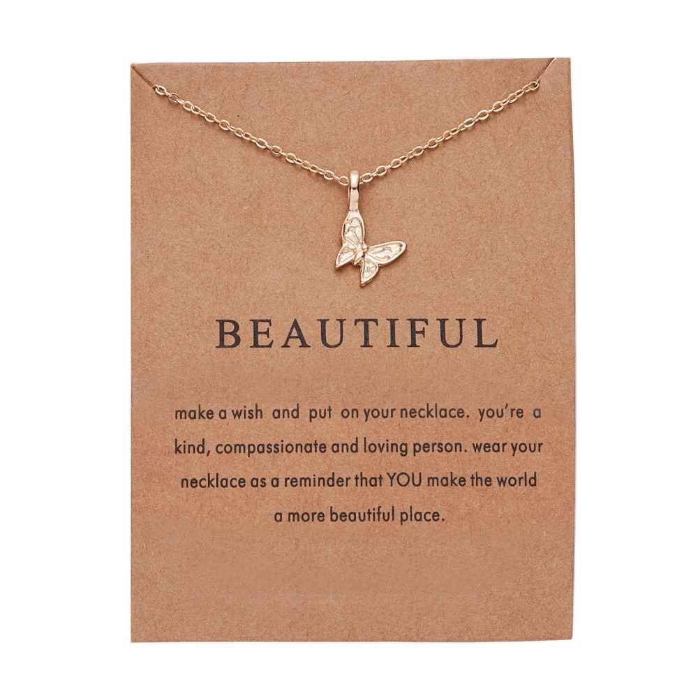 Fashion Elegant Animal Necklace Elephant Dragonfly Butterfly Flower Necklaces Vintage Necklace Pendant Charm Women Friend Gift