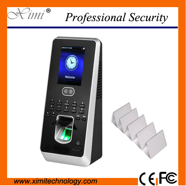 New technology 1500 users face time attendance with 13.56mhz card reader fingerprint access control system