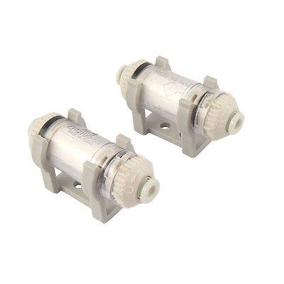 2 Pcs In Line Vacuum Filter ZFC100-04-B for 4mm OD Tube singular bulbs magic props white silver black