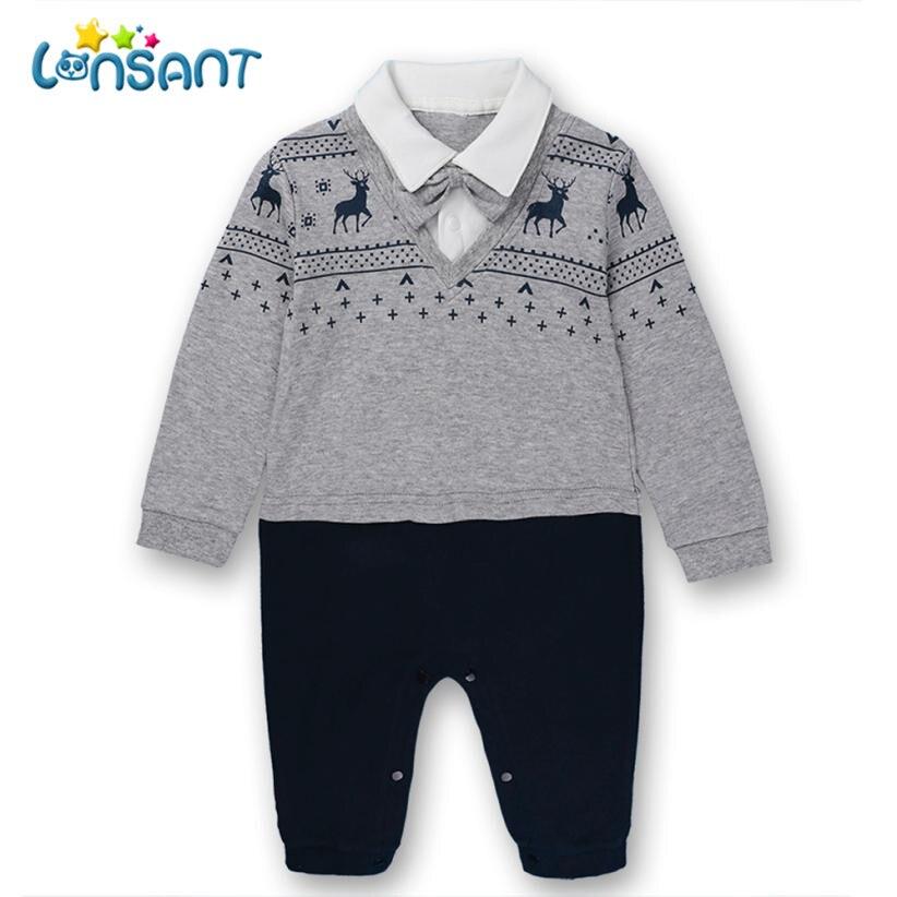 LONSANT Jumpsuit Baby Romper Long Sleeve Cotton Winter Rompers Unisex Boys Girls