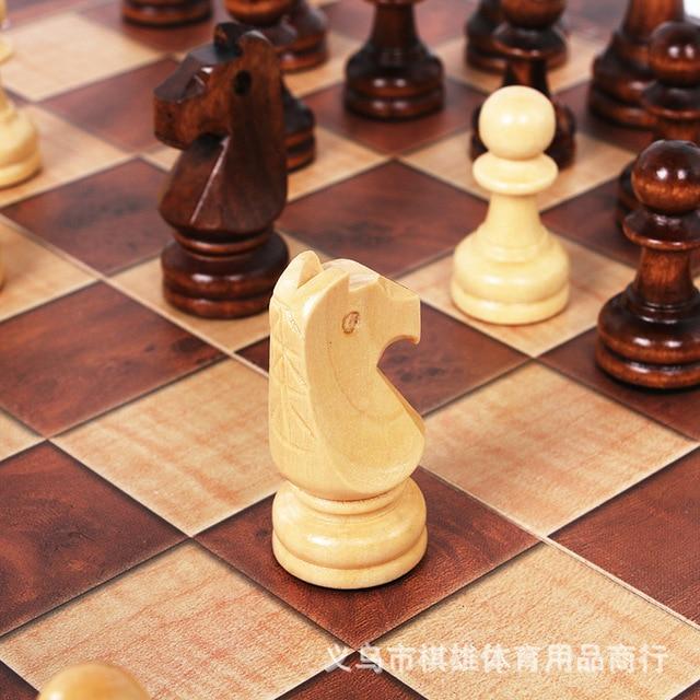 3-en-1 fonction haute qualité en bois échecs , dames backgammon ensemble jeu de société pliable et portable 3