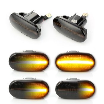 2pc LED Sequential Turn Signal Fender Marker Lights For Honda Civic 1992-2005, Del Sol 1992-1997, S2000 2000-2009, Acura Integra 1994-2001 1