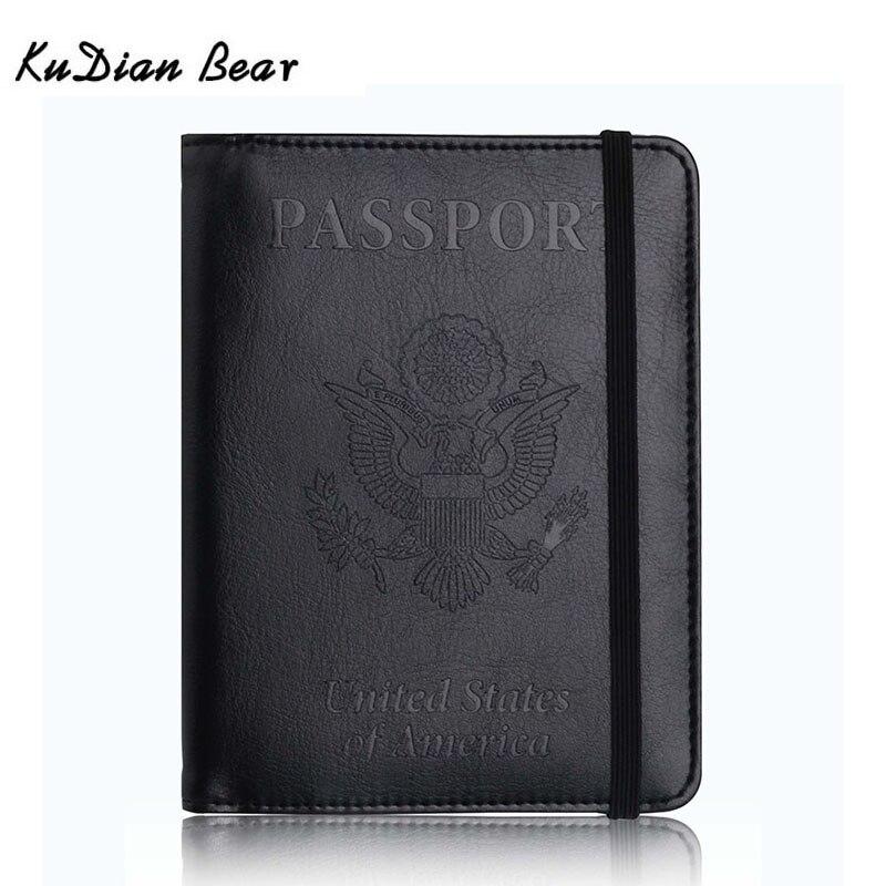 Kudian Bear Usa Passport Cover