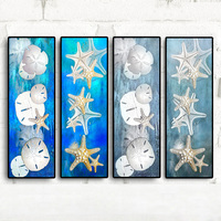 Canvas Art Abstract Still Life Starfish Sand dollar Seascape Oil Painting Modern Landscape Wall Picture Poster For Living Room