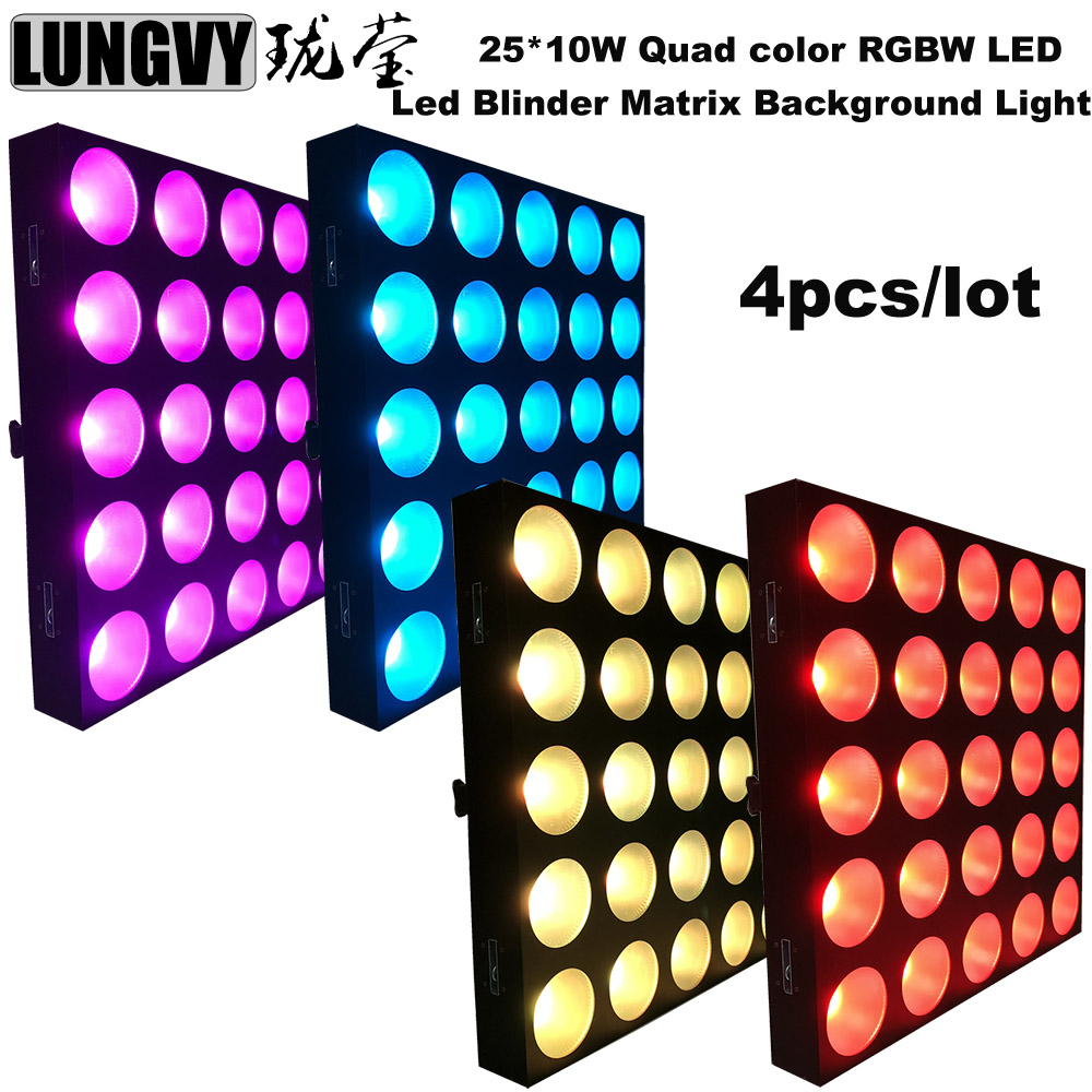Free Shipping 4pcs/Lot Matrix 25x10w RGBW 4in1 Blinder Beam Stage Lighting Background 5x5 LED Wall Washer LightFree Shipping 4pcs/Lot Matrix 25x10w RGBW 4in1 Blinder Beam Stage Lighting Background 5x5 LED Wall Washer Light
