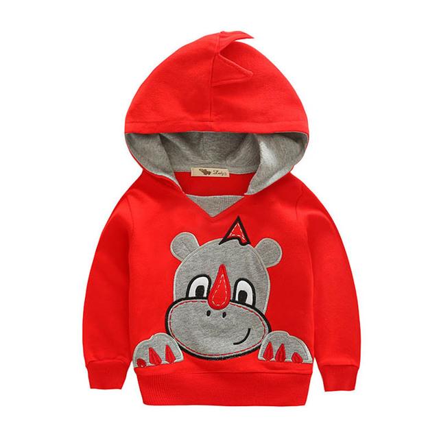 2016 Novas Crianças Primavera Roupas de Outono de Algodão Crianças Hoodies Para 4-8 Anos Unisex Meninos Meninas Camisolas Crianças Bonitos roupas