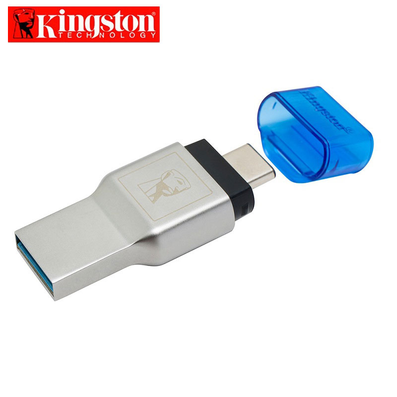 Kingston Micro SD Card Reader USB 3.1 Type-A and Type-C Dual Interface USB Card Reader USB 3.0 Memory Stick Pro Duo Card Reader
