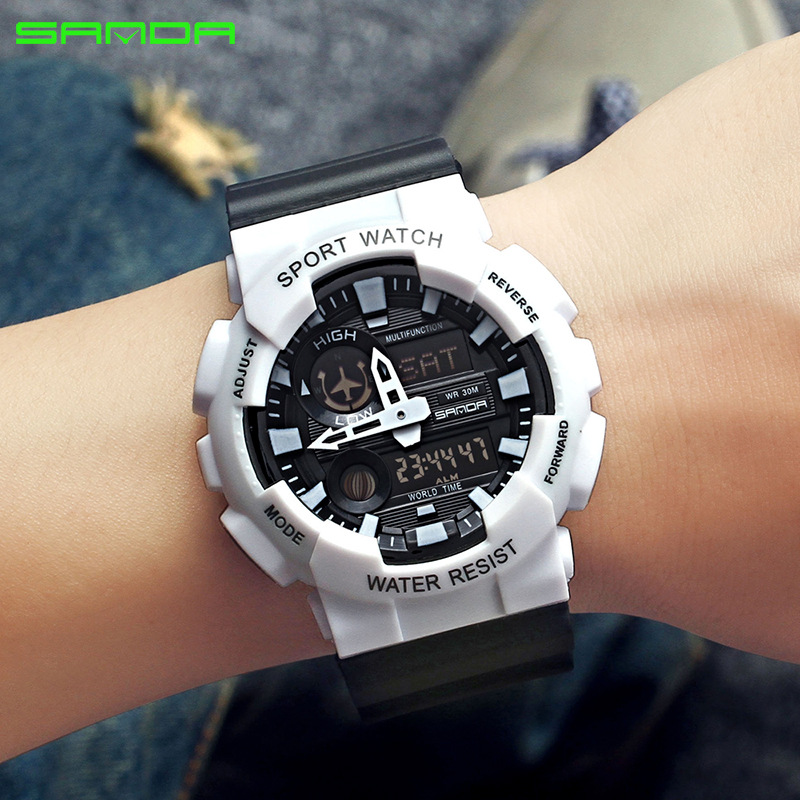 Watch Electronic Multi-Functional Digital Factory-Wholesale Explosion Waterproof Men's