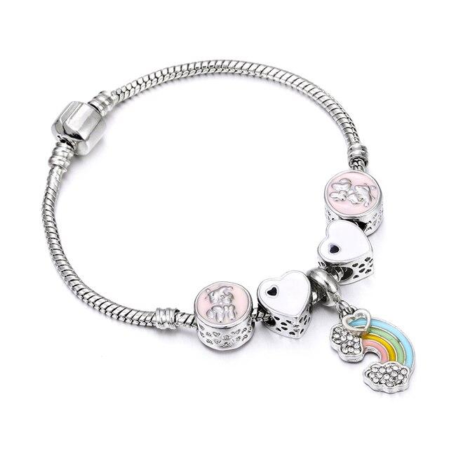 Pink Crystal Beads Charm...
